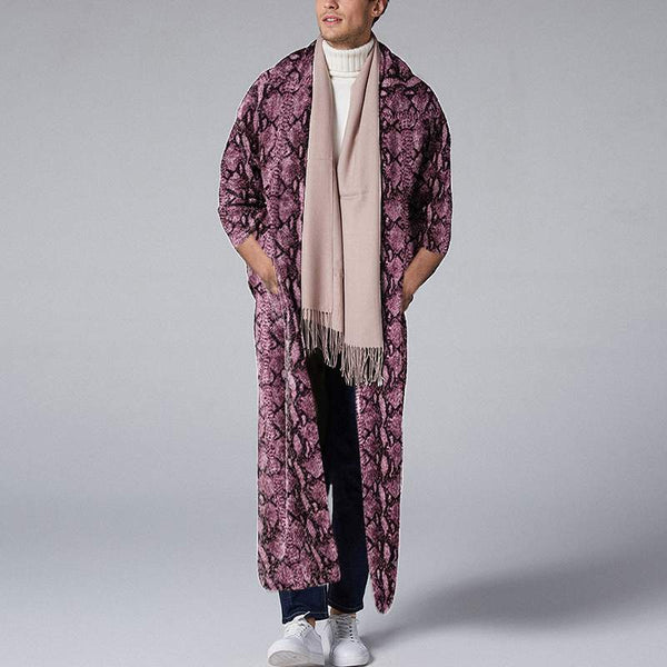 Men printed  three quarter sleeve long outerwear