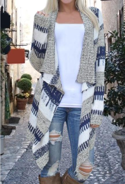 Fashion knit cardigan coat