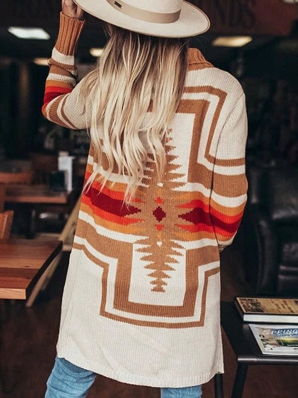 2020 color block sweater cardigan