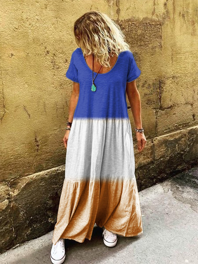 Cotton Short Sleeve Casual Vacation Dresses