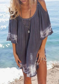 Cold Shoulder Women Dresses Beach Dresses