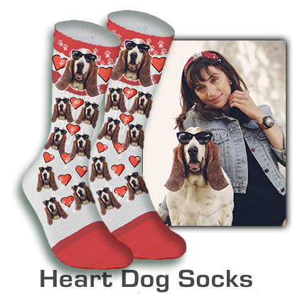 Custom Socks With Dog Face Christmas Gift