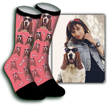 Load image into Gallery viewer, Bone Dog Face Sock