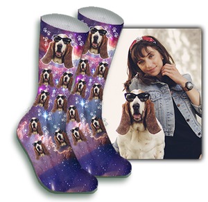 Galaxy Pet Face Sock