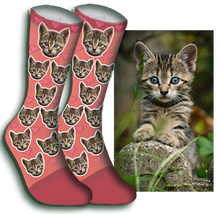 Load image into Gallery viewer, Hearts Pet Face Sock