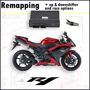 Tovami remapping, quickshifter, autoblipper and race options Yamaha YZF R1 2007-2008