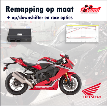 Tovami Remapping, quickshifter, blipper and race options Honda CBR1000RR 2017-2019