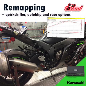 Tovami Remapping, quickshifter, autoblipper and race options Kawasaki ZX10R 2016-2020