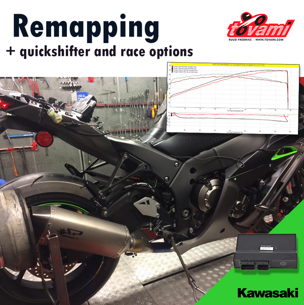 Tovami Remapping, quickshifter and race options Kawasaki ZZR1400 2012-2019
