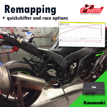 Tovami Remapping, quickshifter and race options Kawasaki Z1000 2017-2019