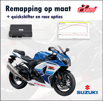 Tovami remapping, quickshifter and race options Suzuki GSXR1000 2014-2016
