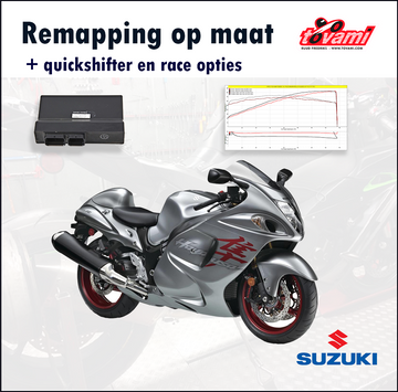 Tovami remapping, quickshifter and race options Suzuki GSX1300R Hayabusa 2013-2019