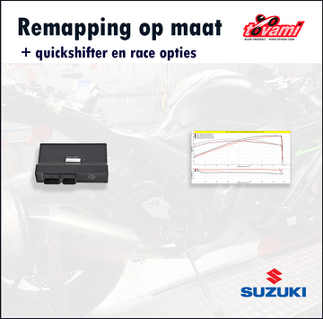 Tovami remapping, quickshifter and race options Suzuki GSXR750 2014-2019
