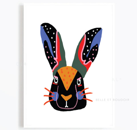 Hare illustration print