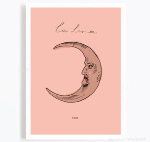 La Luna (The moon) tarot print