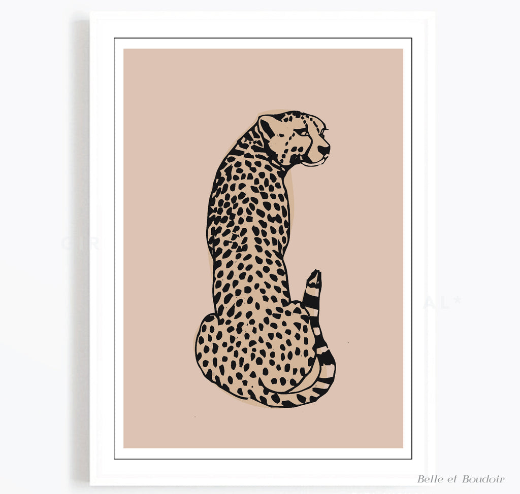 Nude Leopard Animal Fashion print