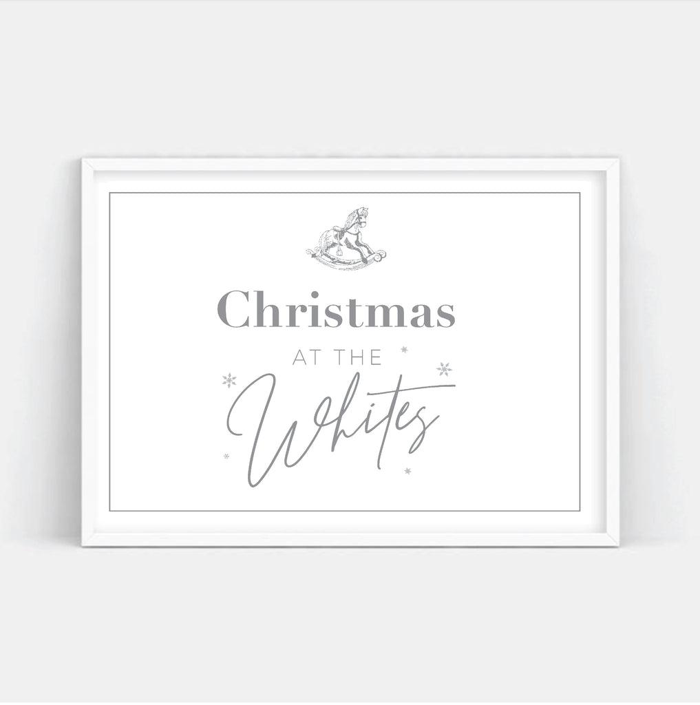 Grey Custom Christmas Art Print