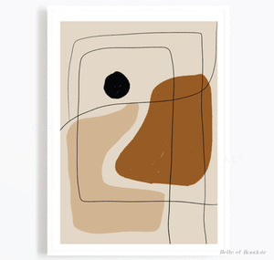 Beige Abstract print