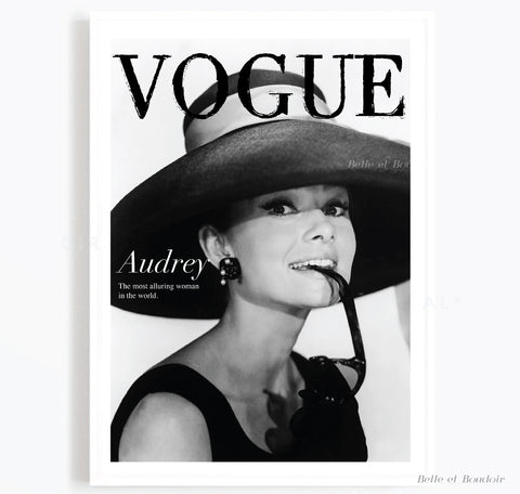 Audrey Vogue Fashion Photography print