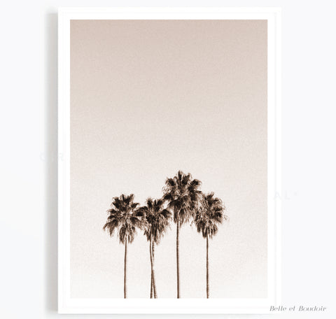 Beige Palm Art print