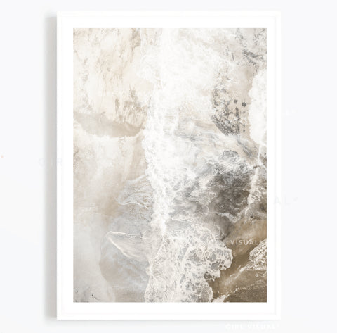 Beige and grey Abstract Art Print