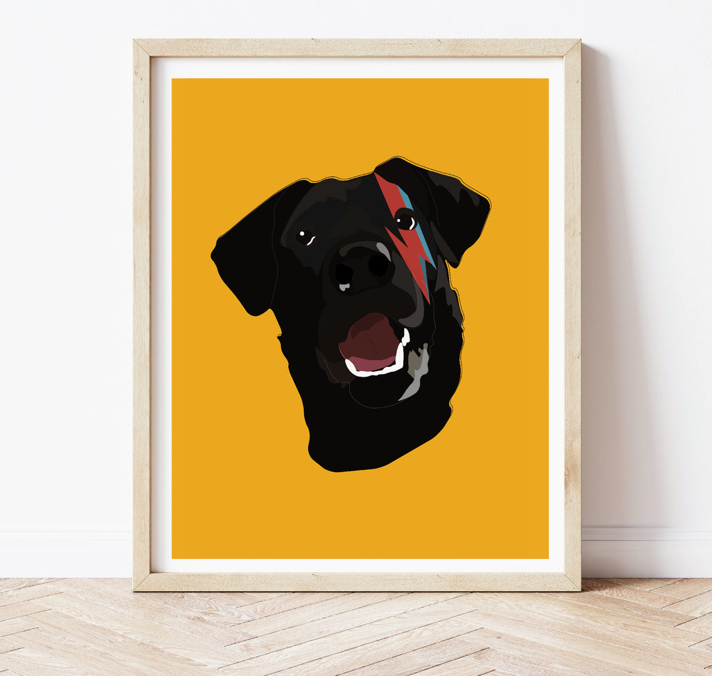Custom Pet Portrait - Bowie