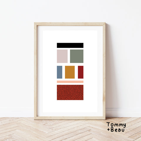 Building blocks print | Tommy + Beau