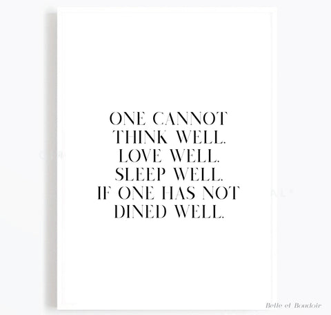 One cannot Kitchen print