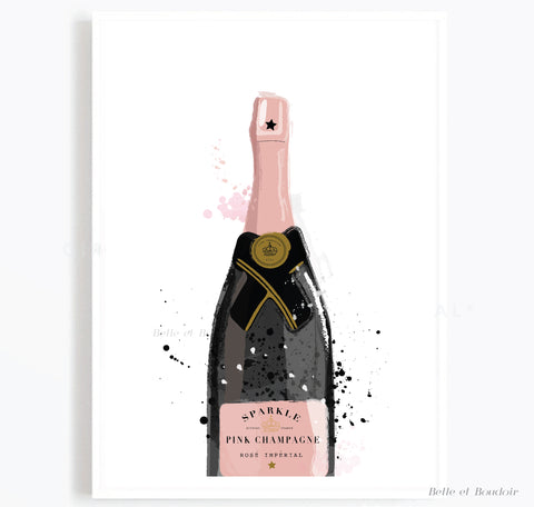 Pink Champagne print