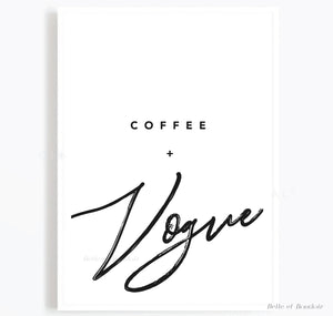 Coffee and Vogue quote print
