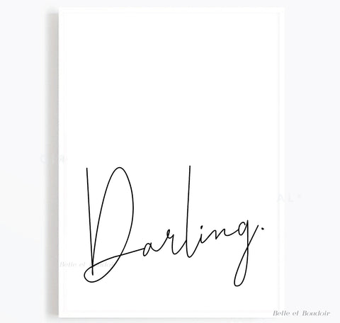 Darling quote print