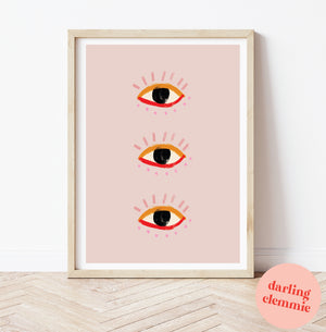 Eye illustration print