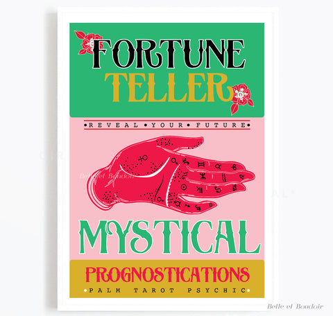 Fortune teller illustration print
