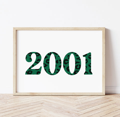 Personalised Leopard year print - Green