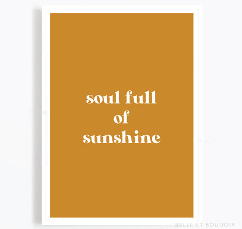 Sunshine quote Print