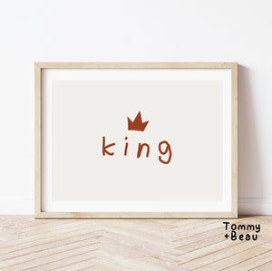 King print | Tommy + Beau