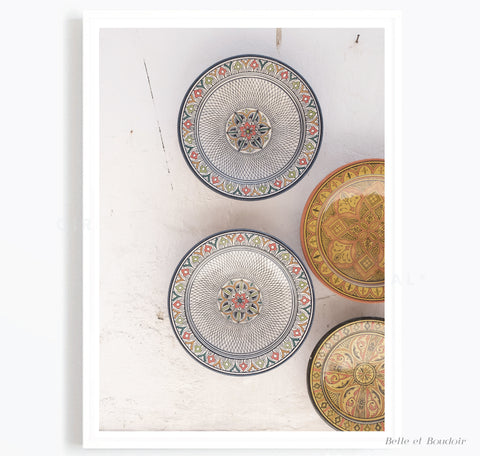 Moroccan Plate Print