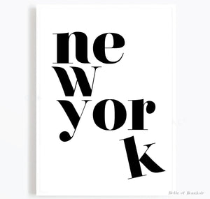 New York quote print