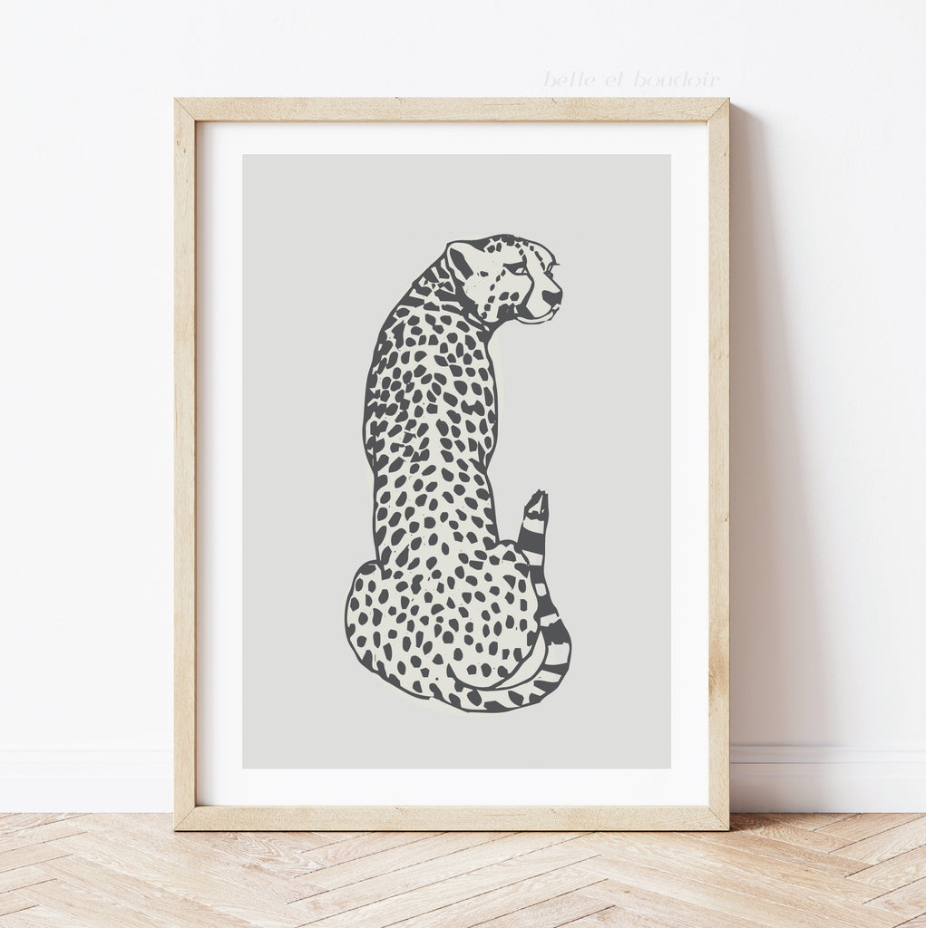 Neutral Leopard Animal Fashion print
