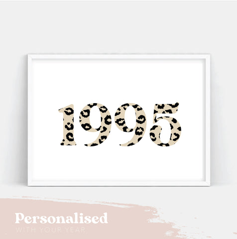 Personalised Leopard year print.