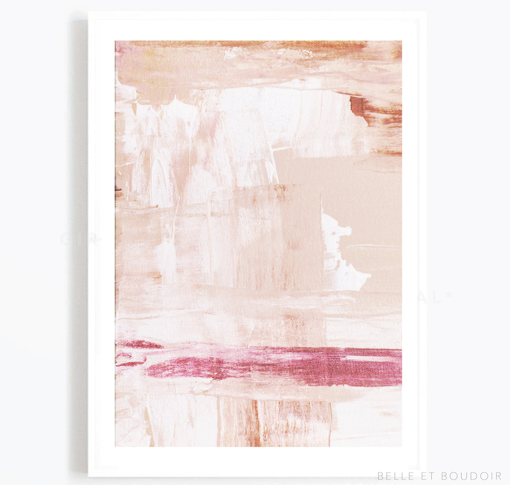 Pink-Nude abstract art print