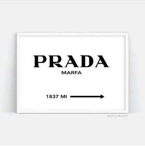 Prada sign Fashion print