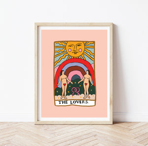 The Lovers tarot print - Pride
