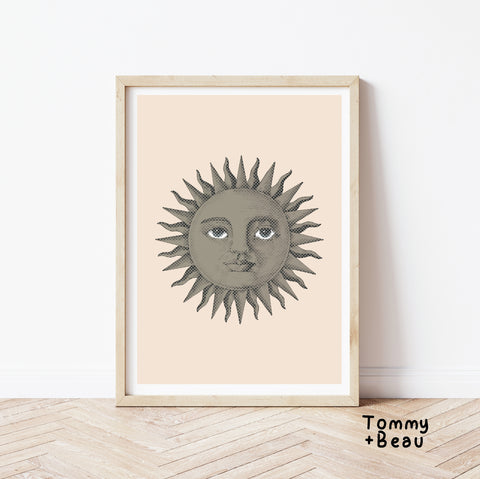 Smiling sun print | Tommy + Beau