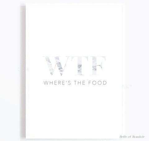 Where's the food marble Kitchen print