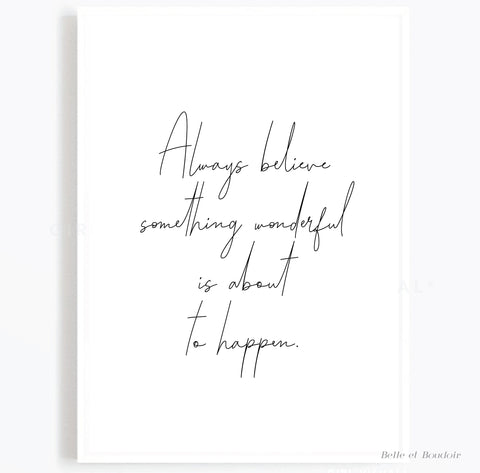 Wonderful Quote Print
