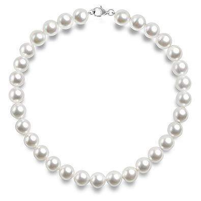 Vintage Pearl Chain Necklace (6mm / 8mm  / 10mm / 12mm)