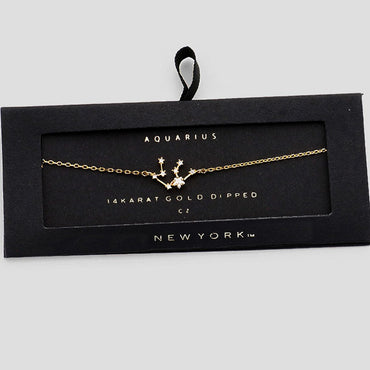 AQUARIUS CZ Star Bracelet