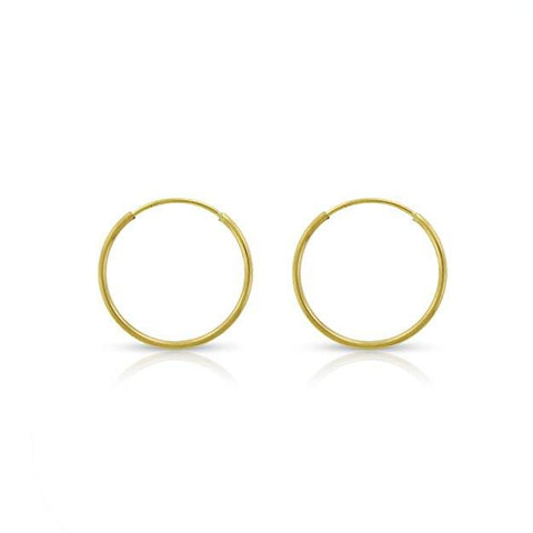 14K Gold Hoop Earrings (10mm / 12mm / 14mm / 16mm / 18mm /20cm)