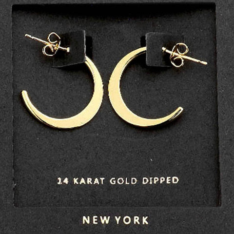 AnChus  Gold Dipped Mini Hoop Earrings